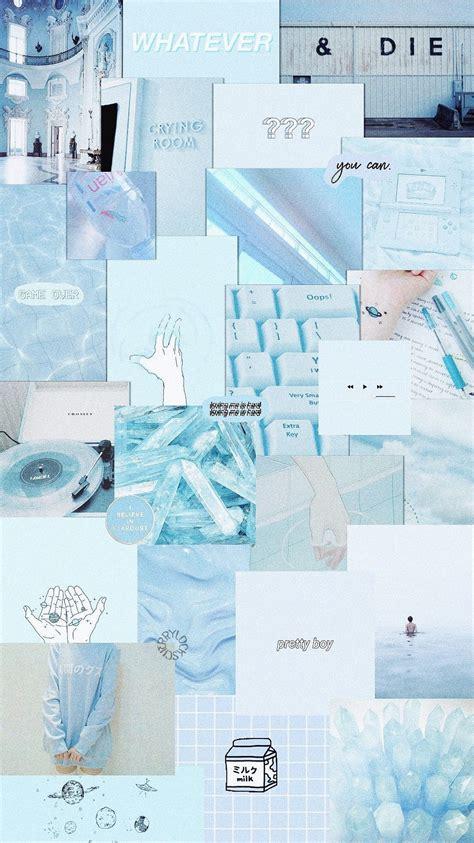 pastel blue aesthetics wallpapers