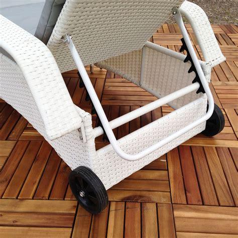 rattan loungeliege verstellbar sonnenliege polyrattan
