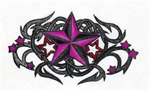 Tribal Nautical Star Tattoo Designs