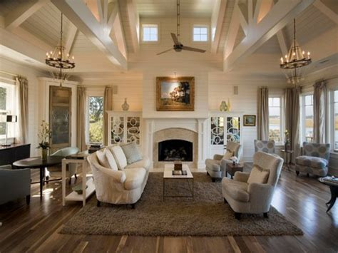 Transitional Living Room, Great Rooms With Vaulted