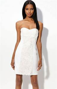 White Strapless Mini Dress - RP Dress