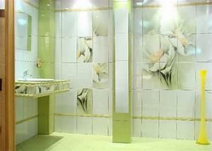 carrelage salle de bain vert et blanc With carrelage salle de bain vert