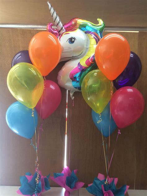 globo de unicornio   ramilletes de globos  decorar
