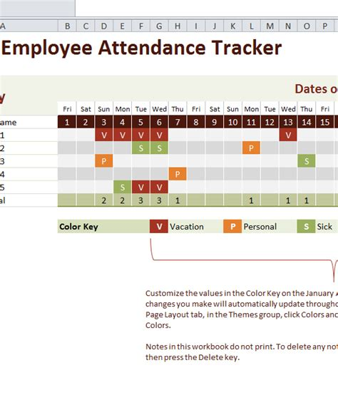 employee attendance tracker  excel templates