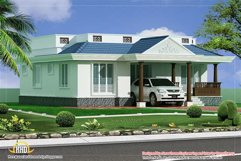 3 Bedroom Houses by 3 Bedroom Single Story Villa 1100 Sq Ft Kerala Home