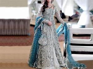 Designer Embroidered Chiffon Bridal Dress Price in