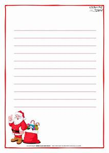 letter to santa claus paper template with lines santa With free letter from santa mailed to your house