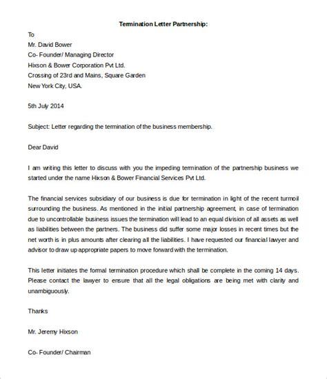 remarkable business partnership termination letter