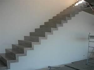 realisation d39un escalier en beton cire nos applications With couleur peinture mur exterieur 0 20 photos de beton cire de couleur et beton colore exterieur