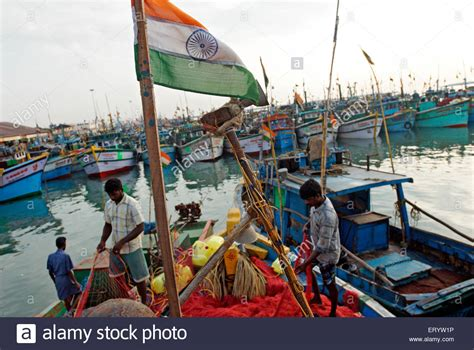 Three Men In A Boat Video In Hindi by Indian Flag On Fishing Boat At Royapuram Madras Chennai