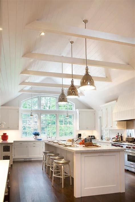 Classic White Kitchen w/Cathedral Ceiling   Kitchen Design