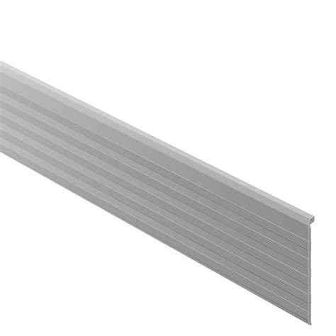 tile stair nosing trim schluter trep tap satin anodized aluminum 2 13 32 in x 8