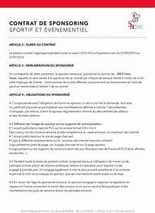 Lettre Demande De Sponsoring : contrat de sponsoring ~ Medecine-chirurgie-esthetiques.com Avis de Voitures