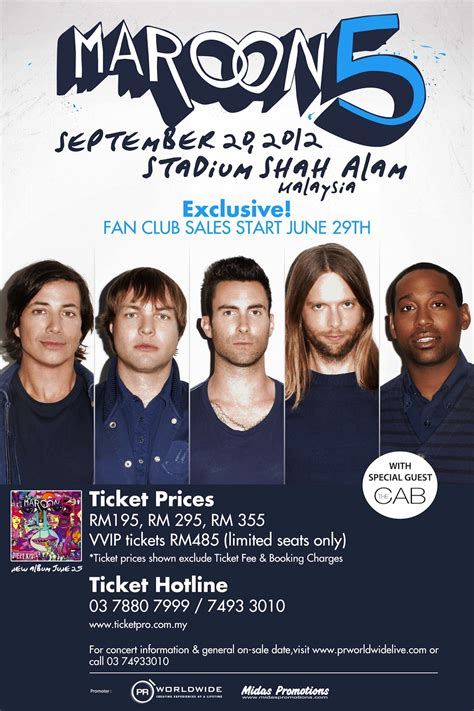 maroon 5 opening act the two timers maroon 5 the cab live in malaysia 2012