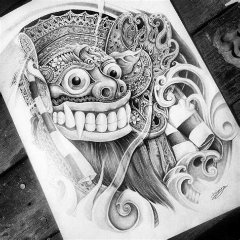 barong drawing google zoeken barong tatuajes