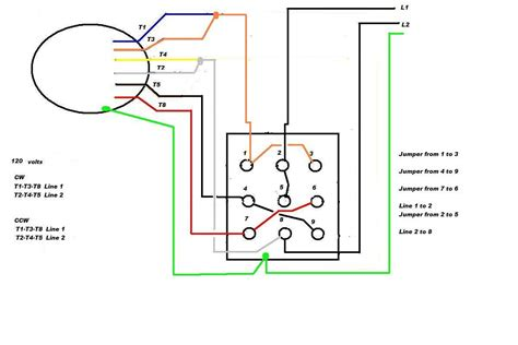 Single Phase Reversing Switch Wiring by Leeson Electric Motor Reversing On Drum Switch