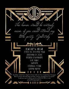 great gatsby party invitation template cimvitation With the great gatsby invitation template