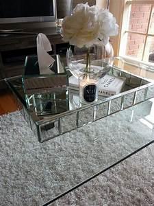 mirrored coffee table furniture - Mirrored Coffee Table