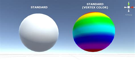 Standard Shader With Vertex Colors