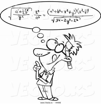 Math Equation Cartoon Smart Coloring Outline Vector