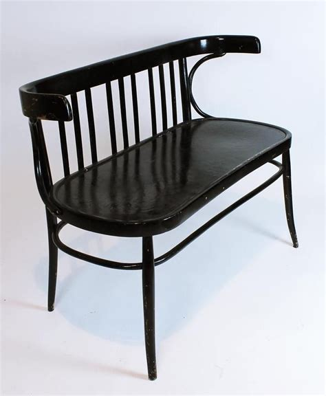 Settees And Benches by Vintage 1930 Bentwood Thonet Two Seater Bench Settee