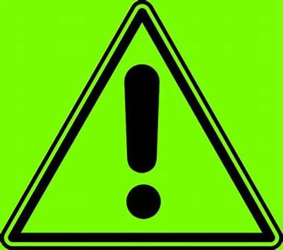 Caution Sign Warning Blinking Exclamation Animated Mark