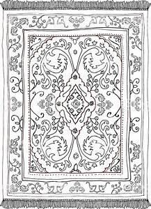 Persian carpet hand drawn stock vector art more images for Drawing of carpet design