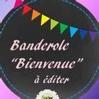 """Banderole """"Bienvenue"""" French Editable Welcome Flags ..."""