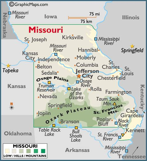 Missouri Large Color Map