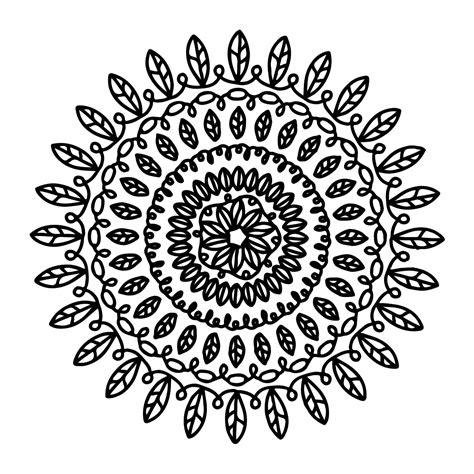 modern mandala coloring page babadoodle