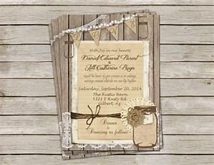 rustic burlap and lace wedding invitation invite mason With rustic wedding invitations near me