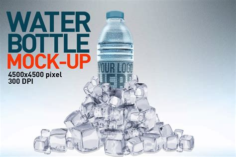 water bottles mock  product mockups  creative market