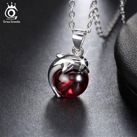 jual kalung kalung perak sterling dengan liontin warna merah kalung kalung
