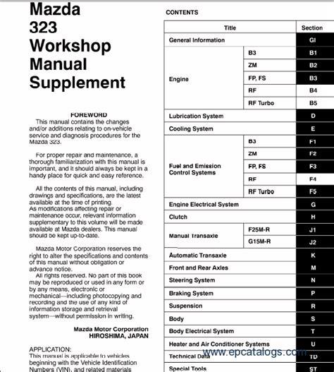 motor auto repair manual 1995 mazda 323 auto manual mazda mazda 323