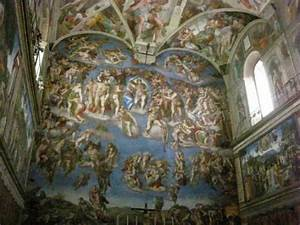 Painting 'The Judgement Day' behind at the altar in the ...