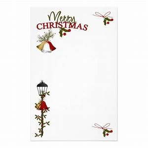 merry christmas letter customized stationery zazzle With christmas letter stationery