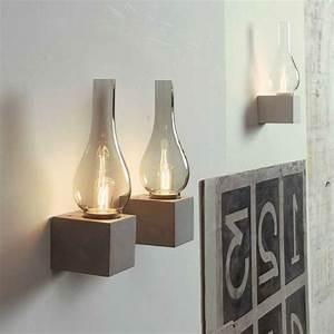 Windlicht Beton Luftballon : wandlampe beton ~ Watch28wear.com Haus und Dekorationen
