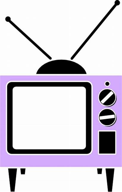 Tv Pink Clip Clipart Royalty Clker Cliparts