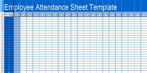 daily attendance sheet template  excel xls attendance