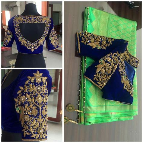 super peacock bridal blouse designs silk saree blouse