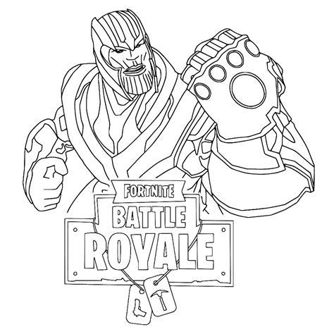 Kleurplaat Fortnite Thanos by Leuk Voor Thanos