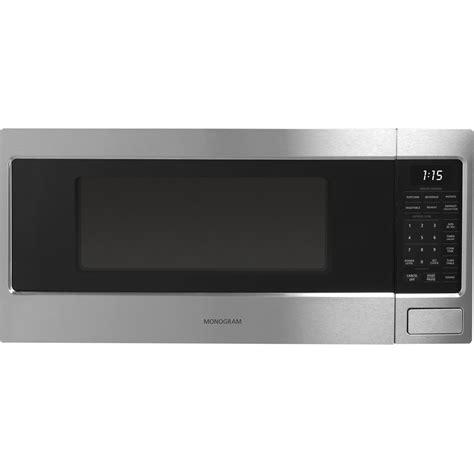 monogram  cu ft mid size microwave blackstainless steel  pacific sales