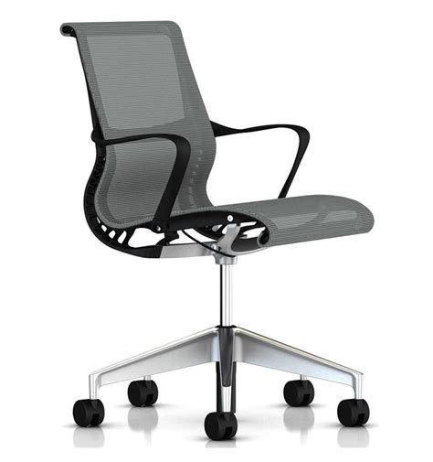 Herman Miller Setu Chair Finishes by Herman Miller Setu Silver Semi Polished Base Office