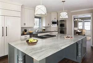 Gray Kitchen Island with Turned Legs and Grosvenor Single ...