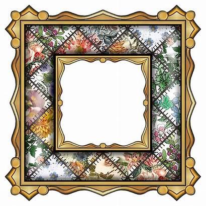 Clipart Patchwork Frame Fancy Clip Paper Cliparts