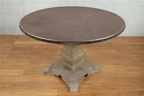 driftwood round dining table anna claire driftwood zinc round dining table for 439 94