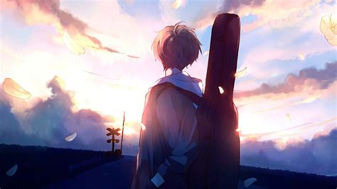 3840x2160 Anime Boy Guitar Painting 4k Hd 4k Wallpapers
