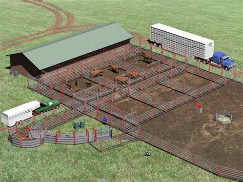 cattle barn corral farm layout ranch corrals beef pens system horse goat shed plans barns livestock cows dairy designs cow