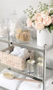 Pottery Barn etagere, bathroom styling, de-clutter your ...