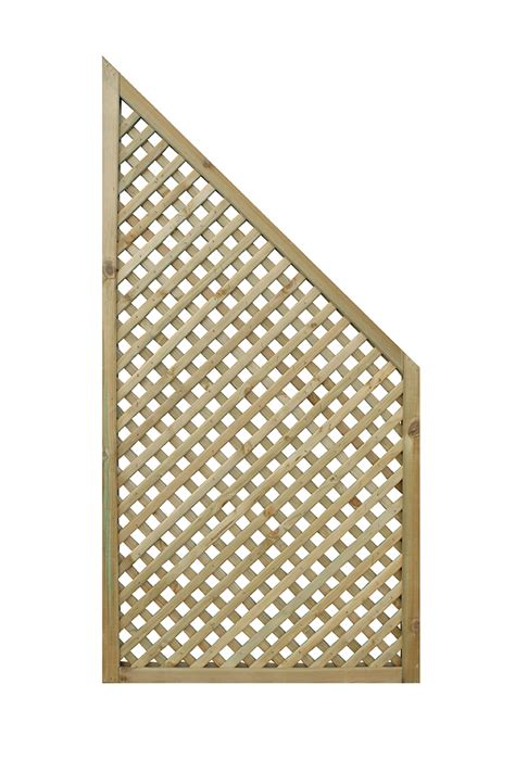 Privacy Diamond Trellis End Panel (pack Of 2)  Sheds N